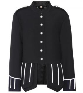 Burberry military embellished wool coat