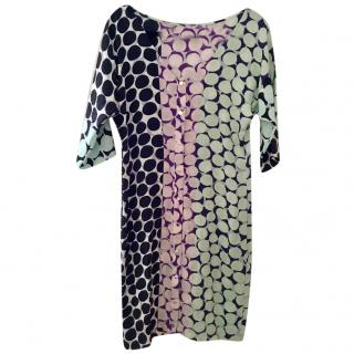 Diane von Furstenberg silk printed dress UK 10