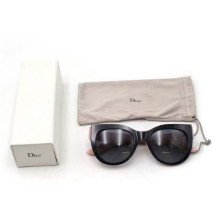 Dior Colour Block Graphic Cat Eye Sunglasses