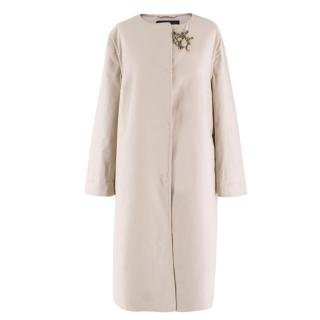 Emanno Scervino Brooch Embellished Coat