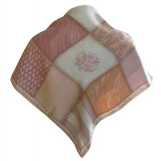 Longchamp Silk Floral Patchwork Scarf