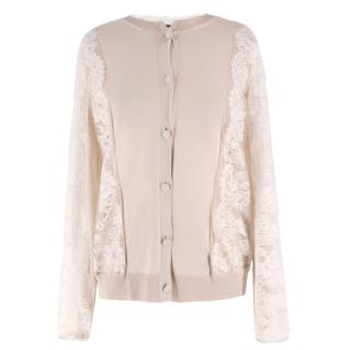 Lanvin Silk-blend & Lace Cardigan