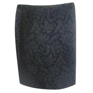 Sport Max Black and Gold Skirt