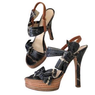 Prada Runway Python Heels