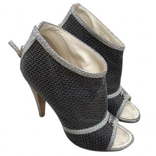 Chanel CC logo mesh boots heels 86ed2fbb1fcf9