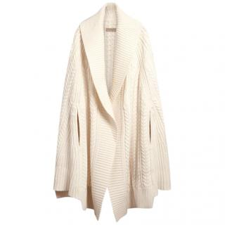 Burberry Cable Knit wool/cashmere Poncho