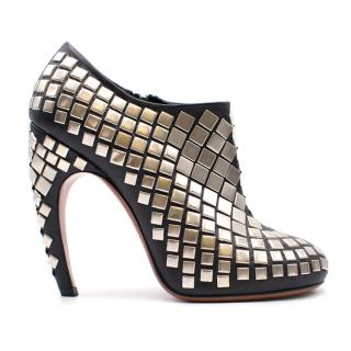 Alaia Leather Studded Stiletto Booties