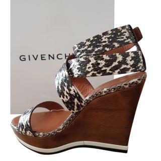 Givenchy Elaphe Roccia Wedge Sandal