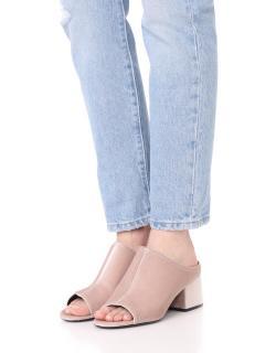 3.1 Phillip Lim Women's Pink Blush Velvet Cube Mules Slip Ons Open Toe