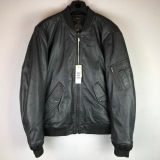 Diesel L-Devra Leather Bomber Jacket