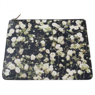 Givenchy Floral Leather Pouch Clutch Bag