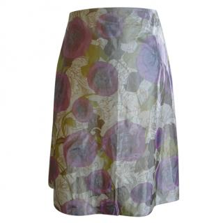 Junya Wantabe Comme des Garcons Metallic Floral Skirt