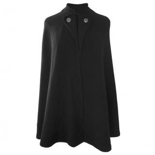 Ralph Lauren black wool & cashmere cape