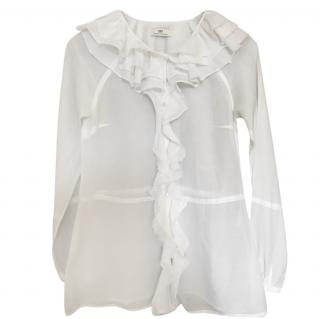 Day Birger et Mikkelsen Cotton and silk white shirt