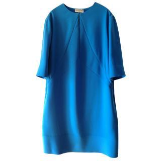 Balenciaga cobalt blue box dress