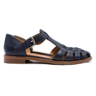 ) Church's Navy Kelsey Sandals