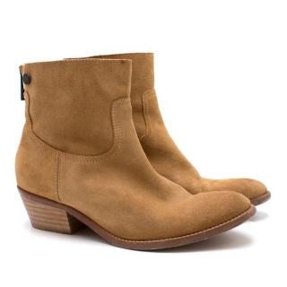 Zadig & Voltaire Tan Suede Ankle Boots