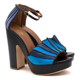 Malone Souliers Blue Lillian Sandals