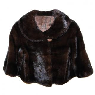 Saga Furs Mink Fur Bolero Jacket