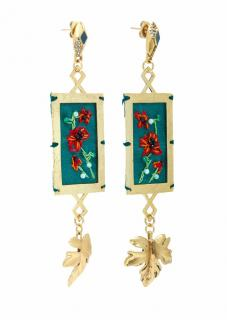 Lulu Frost Hand Embroidered Villa Earrings