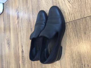 Celine navy loafers