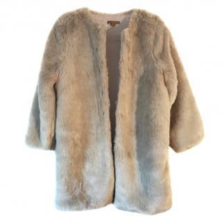 Wild & Gorgeous girls mushroom coloured faux fur coat