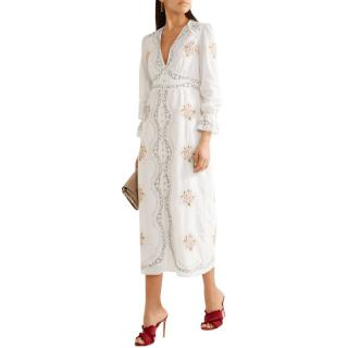 Vilshenko White Embroidered Maxi Dress