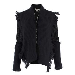 Christian Dior Boutique Vintage Black Cut Out Cardigan