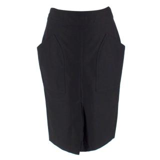 Isabel Marant Black Structured Knee Length Skirt