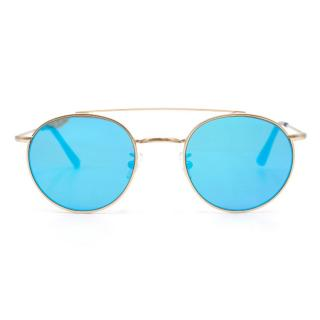 Vionnet Blue Reflective Round Sunglasses