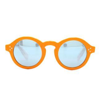 Zanzan Mizaru Orange Round Sunglasses