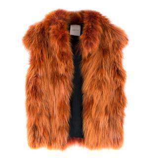 Justor Italy Raccoon Fur Gillet