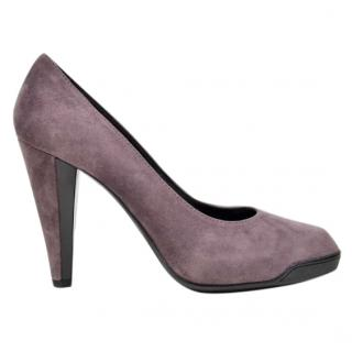 TOD'S lilac suede pumps