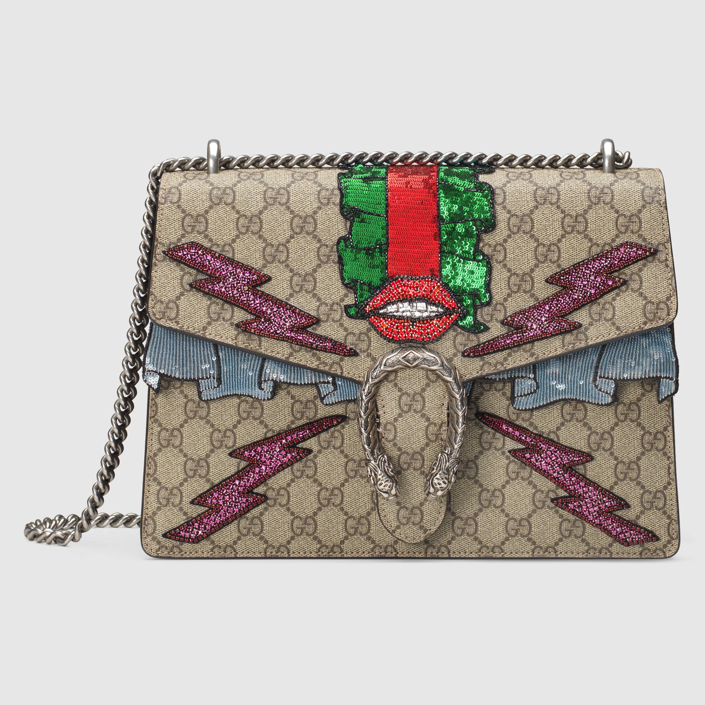 1cacb303b3a2 Gucci Dionysus Gg Supreme Embellished Shoulder Bag | HEWI London