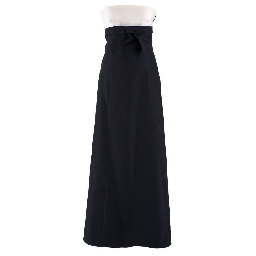 Valentino Black and White Bow Gown