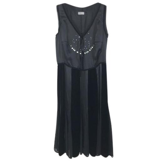 Marella Silk & Velvet Dress
