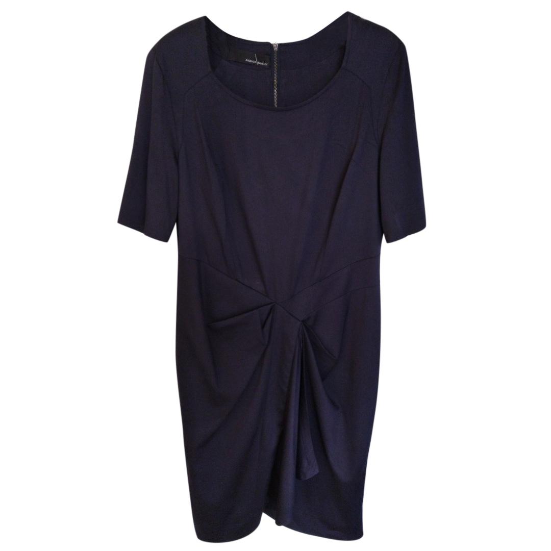 Amanda Wakeley draped blue dress