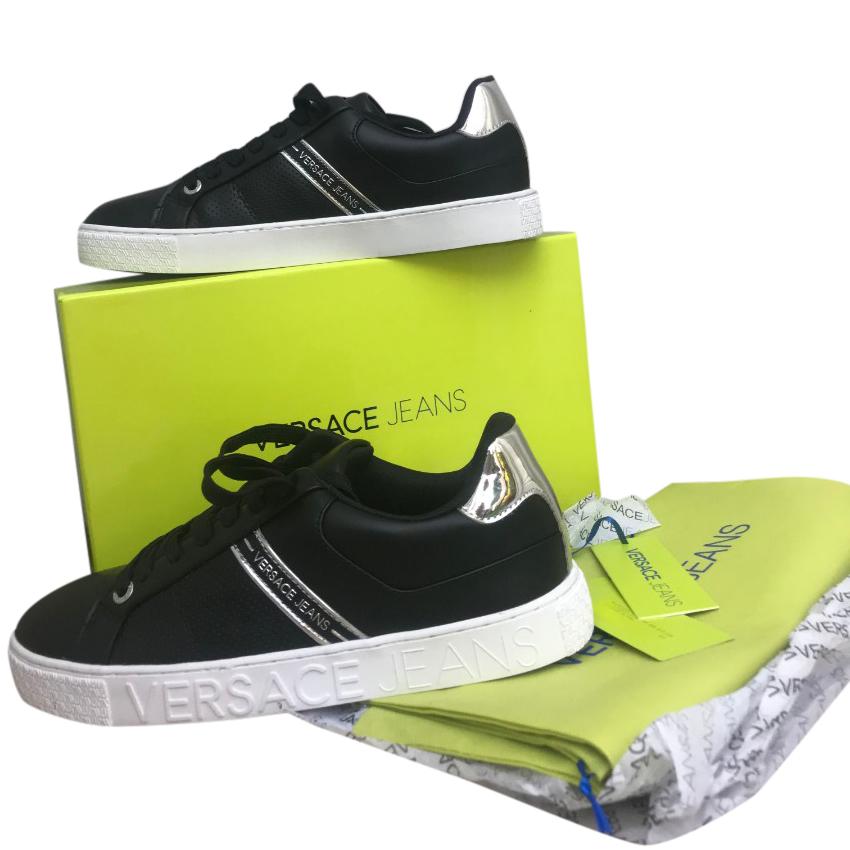 ac936cf22a Versace Jeans Men's Black Sneakers