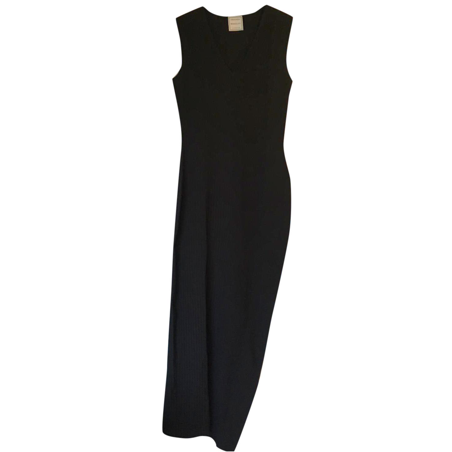 Amanda Wakeley Black Ribbed Dress