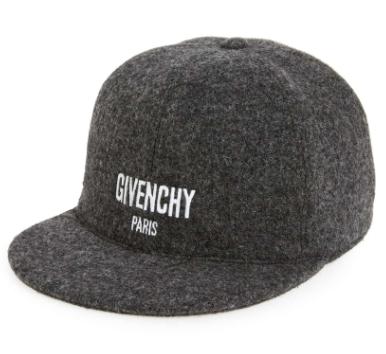 c817ddf00d1 Givenchy Mens Grey Logo Baseball Cap