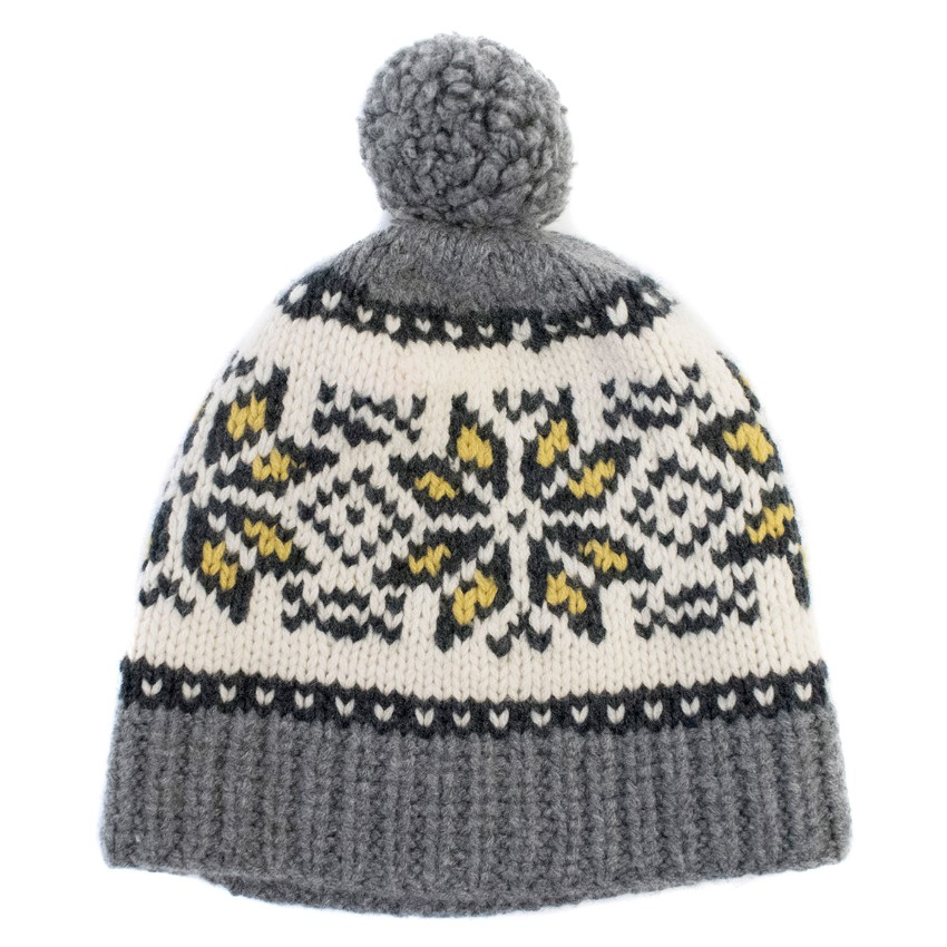 Marie Chantals Cashmere & Wool-blend Fair Isle Bobble Hat
