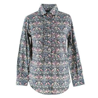 Catherine Prevost Floral Patterned Ruffle Shirt