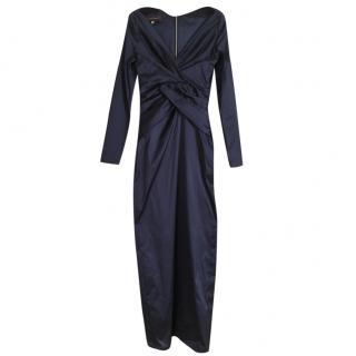 Talbot Runhof mid blue evening gown