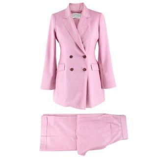 Gabriela Hearst Pink Silk & Wool-blend Suit