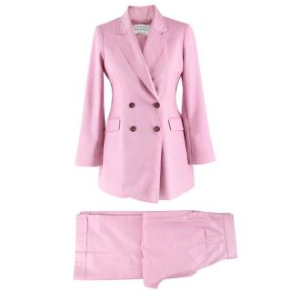 Gabriela Hearst Pink Silk & Wool-blend Suit