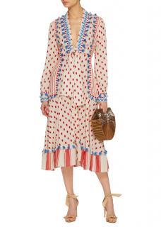 Dodo Bar Or Polka-dot Cotton Midi Dress