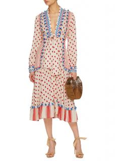 Dodo Bar Or Polka-dot Cotton Midi Dress