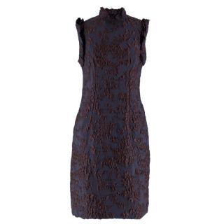 865dbb4c Lanvin Black and Burgundy Floral Dress
