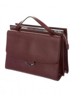 FENDI Burgundy Demi Jour Leather Bag