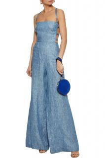 Milly Blue Apron Jumpsuit